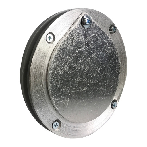 4 Inch  Aluminum Exhaust Port For Doors Up To 1/4 Inch Thick