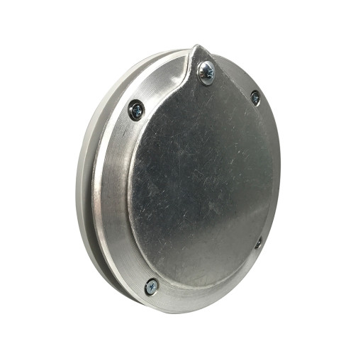 5 Inch  Aluminum Exhaust Port For Doors Up To 1/4 Inch Thick
