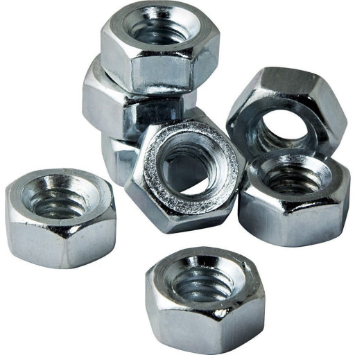 3/8 Inch x 16 Hex Nut ZP (8 QTY)