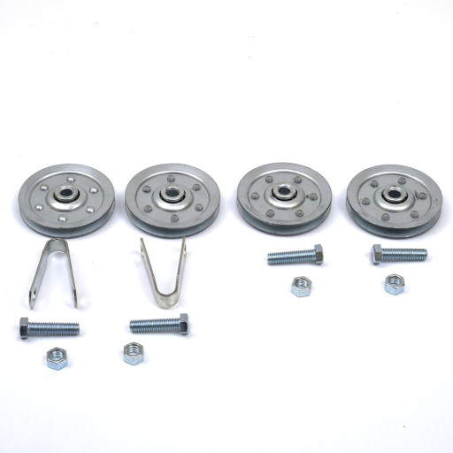 Garage Door 3 Inch Sheaves Stud & Clevis Pulleys Hardware Set