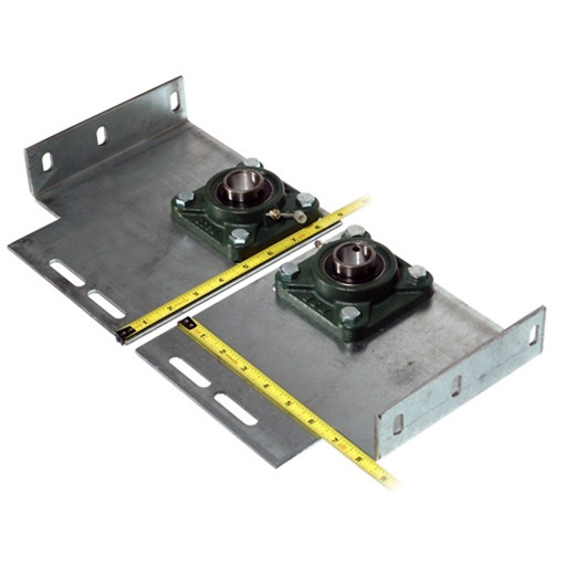 Heavy Duty Garage Door End Bearing Plates 6 Inch Offset (Pair)