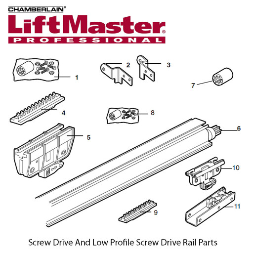 Liftmaster 12B569-1 Left Rail Bracket