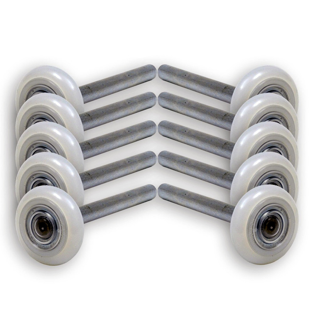 Garage door rollers - 13 Ball Nylon Garage Door Rollers 4 Inch Stem Sealed Bearing 10 Pack