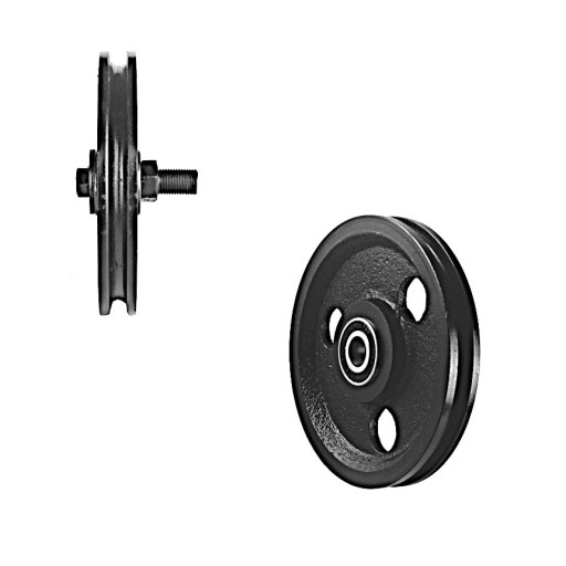 5 Inch Cast Iron Pulley w/ Two Pressed Steel Bearings (400 lb Load)