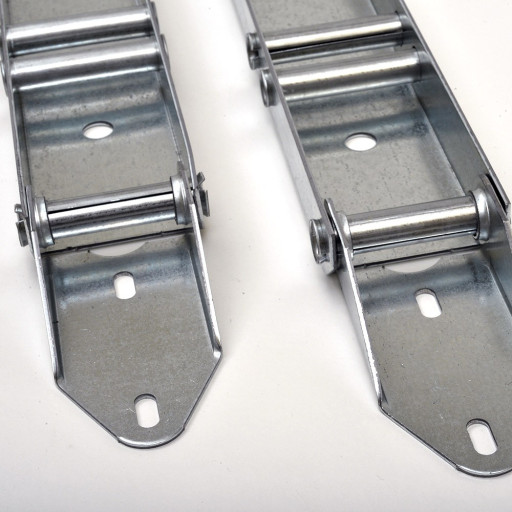 Garage Door Low Headroom Quick Turn Brackets (Pair) w/ (2) Rollers