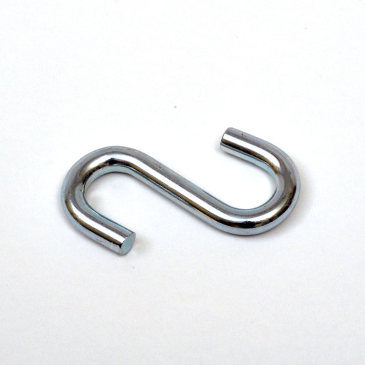 2-Inch Overall Length Zinc Plated S-Hook  (10 PACK)