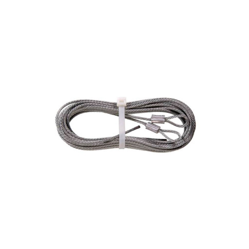 Garage Door EXTENSION Spring Cables 1/8 Inch 12ft 6 Inch w/ Loop ( 7 x 7 )