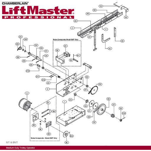 "Liftmaster 31-10364 Spacer  20""x112""x32"