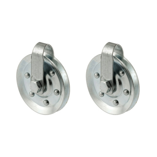 Garage Door  3 Inch Diameter Pulley with Straps and Axle Bolts (2 PACK)